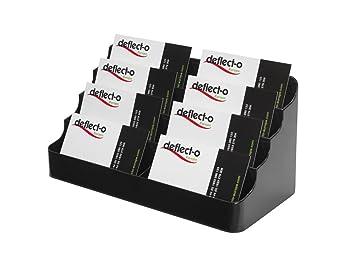 Deflecto 4 tier 8 pocket landscape business card holder black deflecto 4 tier 8 pocket landscape business card holder black colourmoves
