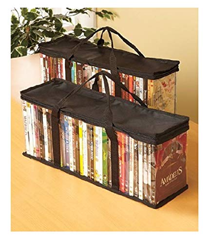 - Set Of 2 Dvd Storage Bags (holds 40 Dvd's Each - 80 Total!)