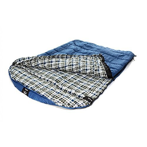 Grizzly by Black Pine 2 Person -25 Degree F Ripstop Sleeping Bag, Blue by Grizzly by Black Pine