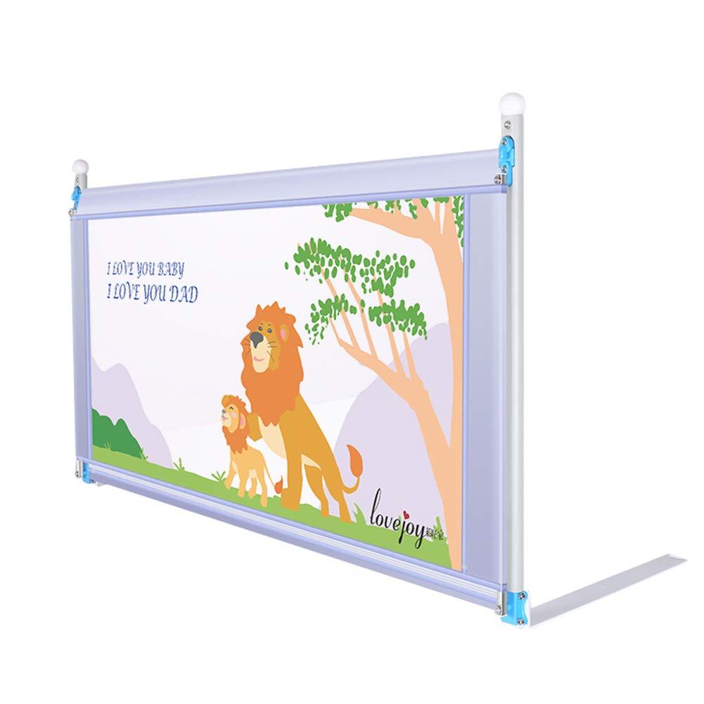 ベッドフェンス- 幼児ベッドレール、子供用エクストラロングベッドガード、子供用ベビーベッドレールフルサイズクイーン&キングマットレス - グレー   B07JHMG818