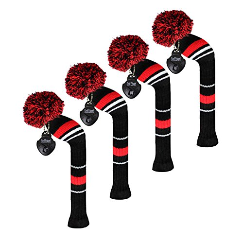 Scott Edward Golf Hybrid (Wedge/Iron) Club Headcovers,4 PCS Packed, Leisure Life Style Looking, Individualized and Washable