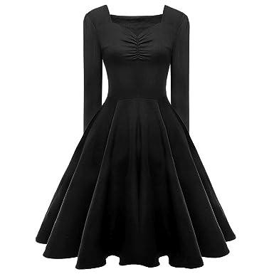Long Black Simple Dresses