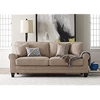 "Serta Deep Seating Copenhagen 73"" Sofa in Windsor Tan"