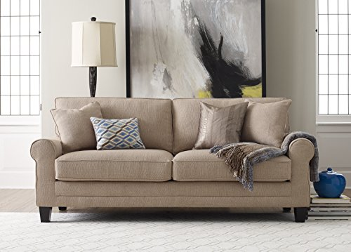 Serta Deep Seating Copenhagen 78″ Sofa in Windsor Tan