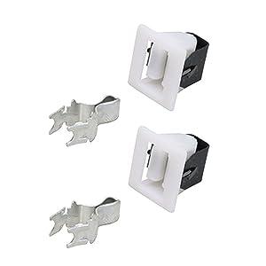 Repairwares Universal Appliance Door Latch Kit 279570 279570M 8001593 510177 WE1X1192 5366021400 4027EL2001A (2 Pack)