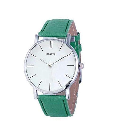 Scpink Relojes de Cuarzo para Mujeres, Liquidación Relojes analógicos para Mujer Relojes Relojes de Cuero