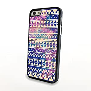 Aztec Design Starry Night Sky Diamond Pattern iPhone 5/5s Carrying Case Plastic Cover Hard Skin Matte Shell Fantastic Style - Can Customize for Other Phones