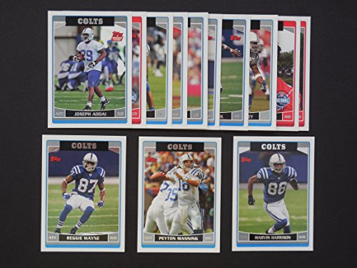 Harrison Indianapolis Colts Super Bowl - Indianapolis Colts 2006 Topps Football Team Set (Super Bowl Champions)**Joseph Addai, Dallas Clark, Dwight Freeney, Marvin Harrison, Marvin Harrison All-Pro, Edgerrin James All-Pro, Cato June, Peyton Manning, Peyton Manning All-Pro, Dominic Rhodes, Bob Sanders, Brandon Stokley and Reggie Wayne**