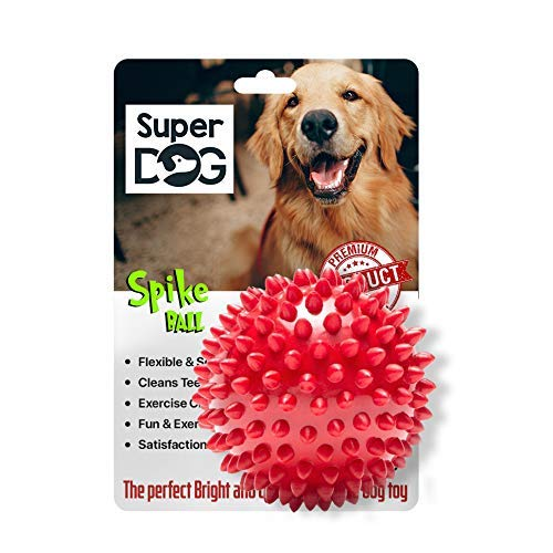 Super Dog Spiked Rubber Dog Ball