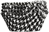 Jubilee Sweet Arts Houndstooth Baking Cups, Standard Size, 50 count, Black