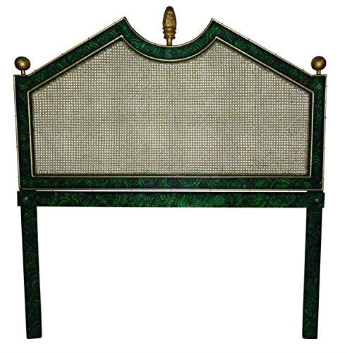 Malachite Emerald Green Iron Queen Headboard | Art Deco Bed Bamboo (Bamboo Queen Headboard)