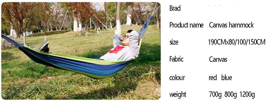 Abgsad Hamac Pliant Simple et Double ext/érieur Portable Bande Bleue capacit/é de Charge maximale 175 kg