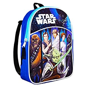 Star Wars Mini Backpack for Preschool Toddlers ~ Premium 11″ Star Wars Backpack for Kids (Star Wars School Supplies Bundle)