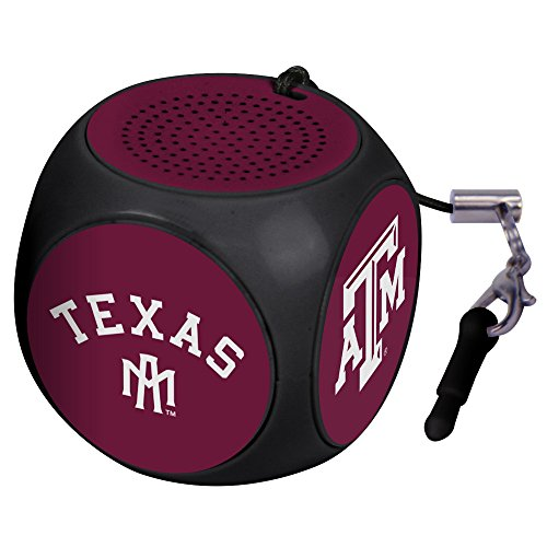 AudioSpice NCAA Texas A&M Aggies MX-100 Cubio Mini Bluetooth Speaker, Black, One ()