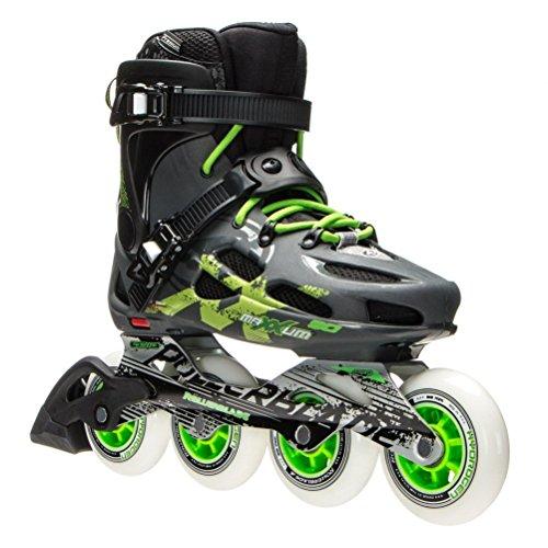(Rollerblade Maxxum 90 Inline Skates - 6.0/Anthracite-Green)
