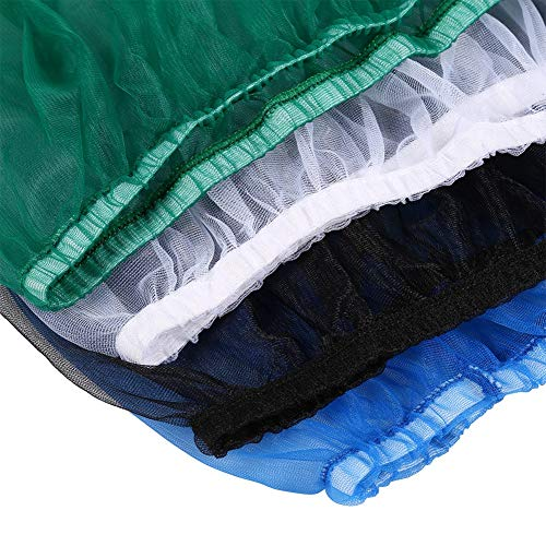AYNEFY 4 Colors Bird Cage Skirt Large Size Ventilated Soft Nylon Bird Cage Cover Shell Seed Catcher Pet Products 52-98.4inch Circumference Mesh Pet Bird Cage Prevent Seeds from Falling Black