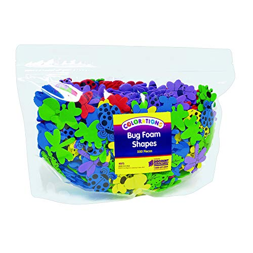 (Colorations BFS Bug Foam Shapes (Pack of 500) )