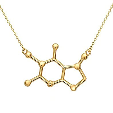 Caffeine Molecule Alike Cast Necklace For Chemistry And Science