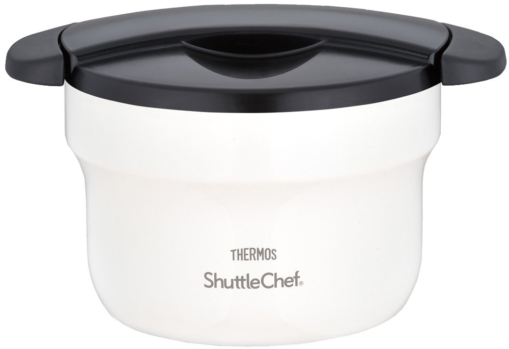 THERMOS vacuum thermal insulation cooker shuttle chef 1.6L off-white KBF-1600 OWH (Japan import / The package and the manual are written in Japanese)