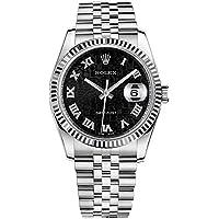 Rolex Datejust 36 Black Jubilee Design Roman Numeral Dial Watch 116234