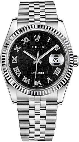 (Rolex Datejust 36 Black Jubilee Design Roman Numeral Dial Watch 116234)