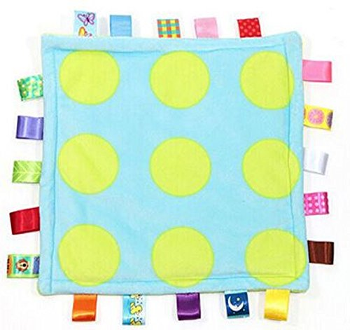(Comforting Generic Polka Dot Baby Blanket with satin tags)