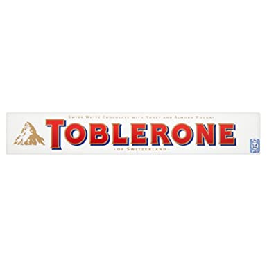 Toblerone White Chocolate Bar 100g Pack Of 20