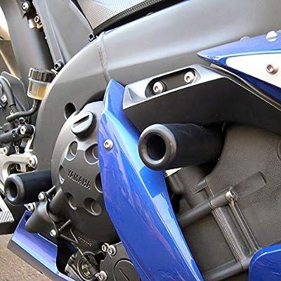 Shogun Yamaha YZF-R1 R1 2004 2005 2006 Black No Cut Frame Sliders - 750-6709 - MADE IN THE USA: Automotive