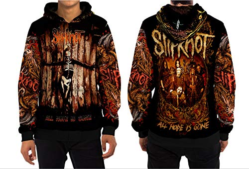 Demonic Slipknot (All Hope is Gone) Hip Metal Rock Band All Over Sublimation Print (XXX-Large, Zipper Hoodie) ()