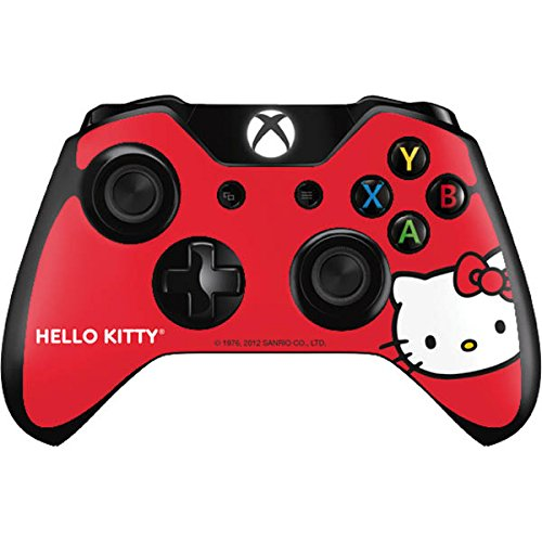 Hello Kitty Xbox One Controller Skin - Hello Kitty Cropped Face Red Vinyl Decal Skin For Your Xbox One Controller (Xbox One Skins Hello Kitty)