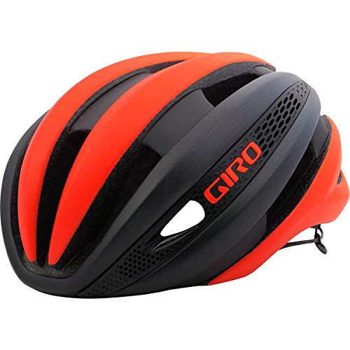Cheap Giro Synthe MIPS Road Cycling Helmet Matte Vermillion/Charcoal Medium (55-59 cm)