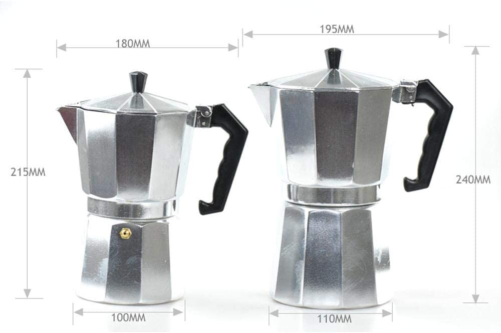 150/300/450/600 ml Aluminium Moka Pot Cafetière Moka Coffee Teacup Percolator Protable Espresso Coffee Pots, 600ml 300 Ml