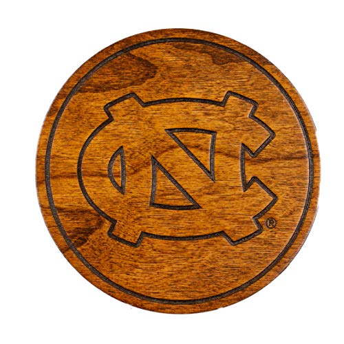 LazerEdge UNC Chapel Hill Coasters Variety Pack - Cherry Wood - Old Well, Rameses's Head, Tar Heel, Interlocked ()
