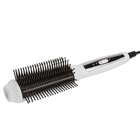 Rizadora de cabello,Cepillo eléctrico Anti-escaldadura Anti estático Calentamiento rápido Cepillo alisador de