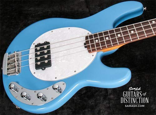 Ernie Ball Music Man StingRay Special Electric Bass Guitar Chopper Blue (SN:F82196)