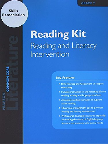 Pearson Literature, Reading Kit, Reading and Literacy Intervention, Common Core