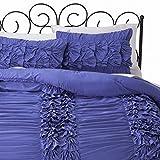 Xhilaration Twin XL Purple Violet Layered Ruffle Comforter & Sham Set