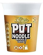 Pot Noodle Original Curry Flavour - 90g - Pack of 4 (90g x 4)