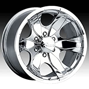 Pacer Warrior 17x8 Polished Wheel / Rim 6x5.5 with a 10mm Offset and a 108.00 Hub Bore. Partnumber 187P-7883