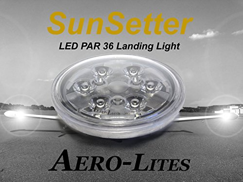 Aero-Lites LED Landing Light - PAR36 Drop-in Replacement for GE4509 14-28 volt by Aero-Lites