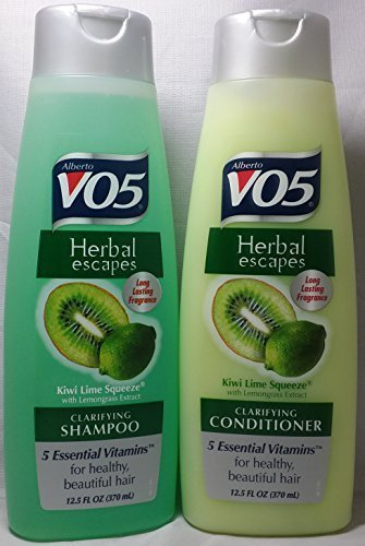 VO5 Herbal Escapes Kiwi Lime Squeeze Shampoo & Conditioner (12.5 Oz) (Herbal Lemongrass Shampoo)