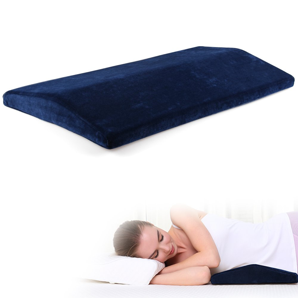 Cozy Hut Soft Memory Foam Sleeping Pillow for Lower Back Pain,Multifunctional Lumbar Support Cushion for Hip,Sciatica and Joint Pain Relief,Orthopedic Side Sleeper Bed Pillow