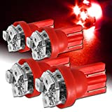 506 led bulb - 4x Red 6 LED T10 Interior Wedge Light Bulbs Replaces 194 147 152 158 159 161 168 184 192 193 259 280 285 447 464 555 558 585 655 656 657 1250 1251 1252 2450 2652 2921 2826