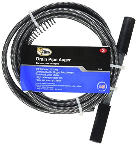COBRA PRODUCTS CO 20150 3/8x15 Wire Drain Auger by Cobra Enterprises