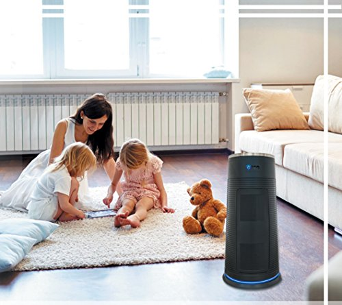 22 Inch OION Technologies 5-in-1 True HEPA Air Purifier 3 Speeds UV-C Sanitizer, Odor Allergen Allergies Eliminator Cleaner, Home Air Filtration for Dust, Mold, Pets, Smokers, Cooking, Powerful LB-999