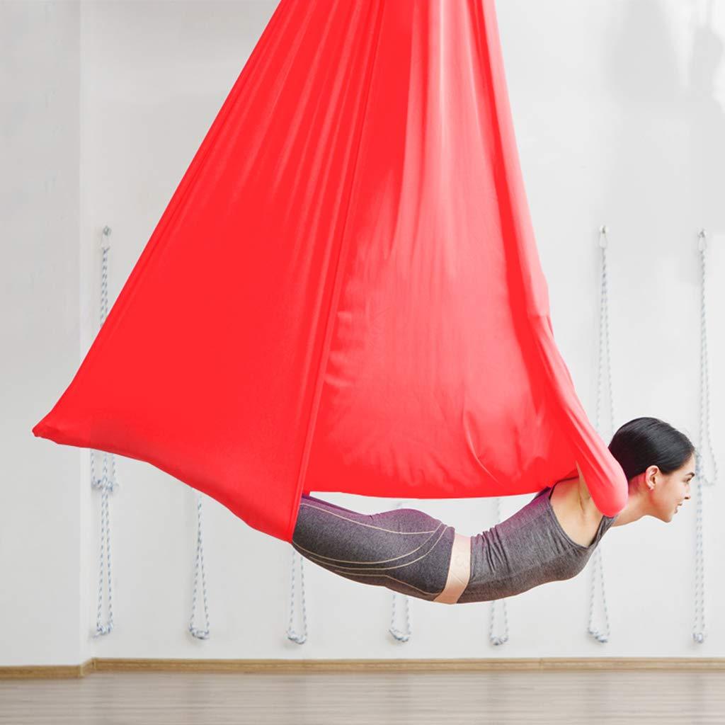 HappyTime Aerial Yoga Hängematte, geeignet für Yoga-Enthusiasten, Outdoor-Yoga und Freizeit-Haus, entspannende Eltern-Kind-Unterhaltung, etc.6 Meter geeignet für Höhen von 3,3 Meter bis 3,6 Meter.