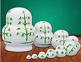 LK King&Light - 10pcs Bamboo Pandas Russian Nesting
