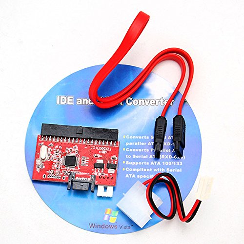 1.5 Gbps Hard Drive - 2in1 IDE HDD to SATA Hard Drive Serial ATA 1.5Gbp Speed Converter 100/130