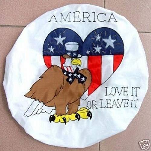 (Satellite Dish Cover Wrap - Patriotic American Eagle Design)