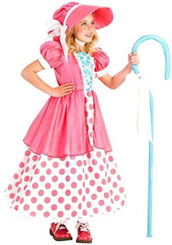 Princess Paradise Polka Dot Bo Peep Costume, Multicolor, Medium (8) (Shepherdess Costume)